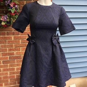 ASOS - Navy Blue and Black Dress with Bows…